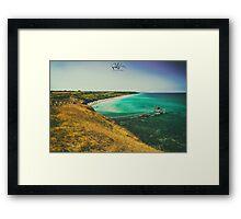sunny day at the beach Framed Print