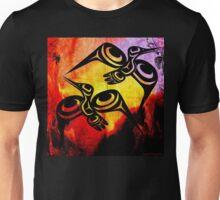 Hummingbirds Tye-Dye Background Unisex T-Shirt