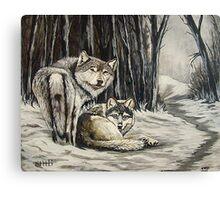 Dos Lobos Canvas Print