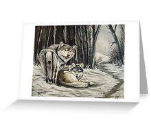 Dos Lobos Greeting Card