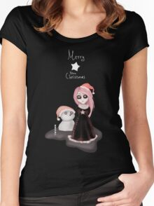 Black Xmas: A Merry Gothic Christmas Women's Fitted Scoop T-Shirt