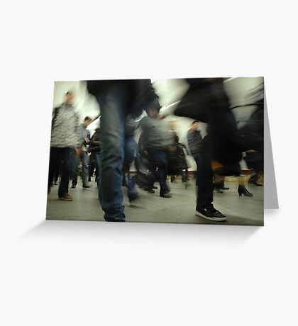 Human crowd in the subway Greeting Card