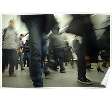 Human crowd in the subway Poster