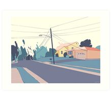 A few streets down Art Print