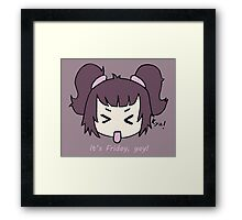 It's Friday, yay! by Lolita Tequila Framed Print