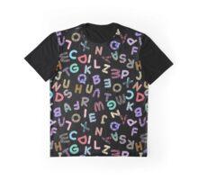 ABC Rumble Jumble on Black Graphic T-Shirt