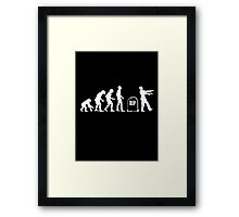Scary and Funny zombie Evolution walking Framed Print
