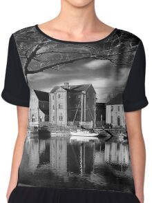 Claddagh, Water Reflections, B+W Version Chiffon Top