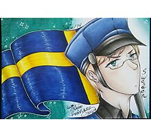 Sweden drawing Photographic Print