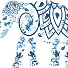Decorated Elephant With Butterfly by ImageMonkey