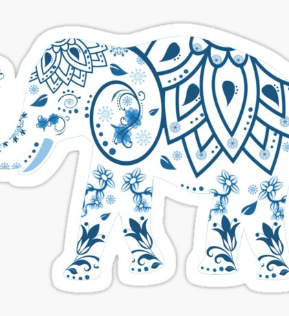 Decorated Elephant With Butterfly Sticker