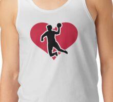 Handball player heart Tank Top