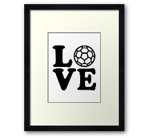 Handball Love Framed Print