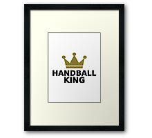 Handball king crown Framed Print