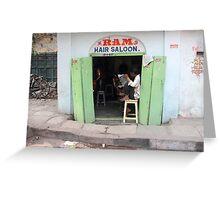 Ram Hair Saloon Greeting Card