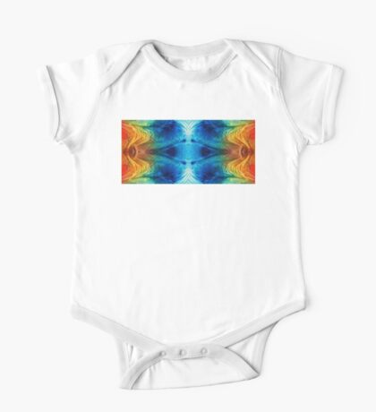 Colorful Abstract Art Pattern - Color Wheels - By Sharon Cummings One Piece - Short Sleeve