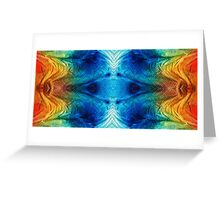 Colorful Abstract Art Pattern - Color Wheels - By Sharon Cummings Greeting Card