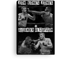 Jon Jones Vs Alexander Gustafsson Canvas Print