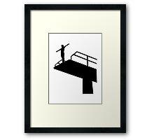High diving Framed Print