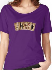 Contrast Cards Women's Relaxed Fit T-Shirt