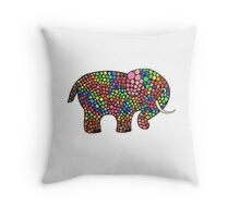 Disco Elefant Throw Pillow