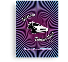 Delorean Delivery Depot Canvas Print