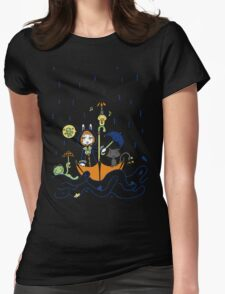 Friends and Rain by Lolita Tequila Womens Fitted T-Shirt