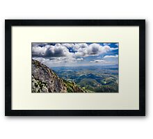 French Mountain View Framed Print