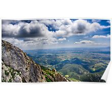 French Mountain View Poster