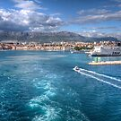 ..sailing out of Split..  (best enlarge..) by John44