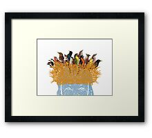 Bird nest head Framed Print