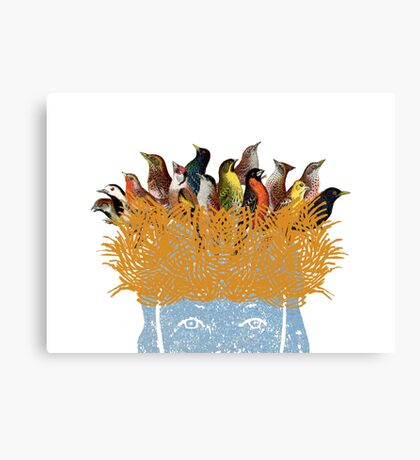 Bird nest head Canvas Print