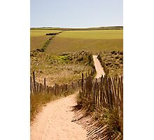Beachside location in Devon Photographic Print