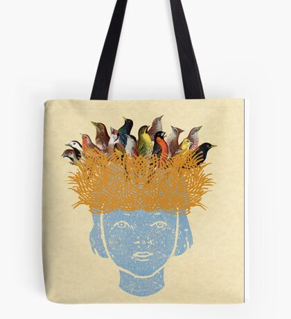 Bird nest head Tote Bag
