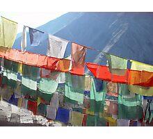 Om Mani Padme Hum Flags Photographic Print