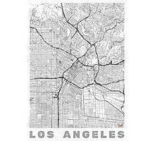 Los Angeles Map Line Photographic Print