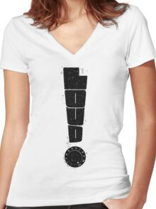 Loud! Typography Series Women's Fitted V-Neck T-Shirt