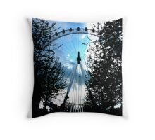London Wheel Throw Pillow