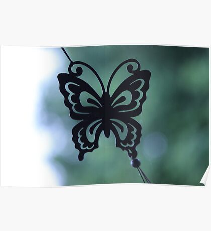 Butterfly Wind Chime Poster