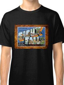 Sioux Falls South Dakota Vintage Souvenir Post Card Classic T-Shirt