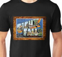 Sioux Falls South Dakota Vintage Souvenir Post Card Unisex T-Shirt