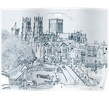 York, in pen and ink Poster