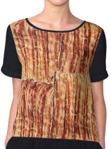 Bacon Breakfast Chiffon Top