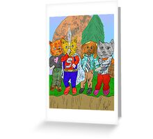 Island of Paws Greeting Card