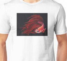 Red Fire - Betta Fish Painting Unisex T-Shirt