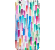 Candy colored brushstrokes iPhone Case/Skin