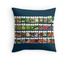 Vegetable seeds pattern Throw Pillow