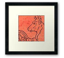 Old Bull Framed Print