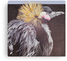 The Golden Crowned Crane Canvas Print