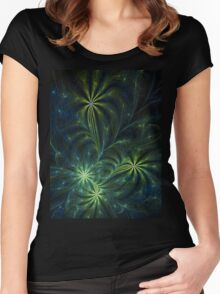 Weed - Abstract Fractal Artwork Women's Fitted Scoop T-Shirt